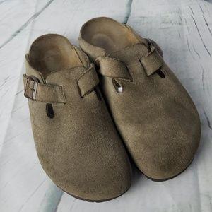 Birkenstock | Suede Mule Shoes